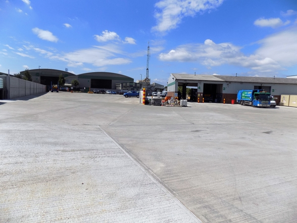 New paving at aggregate plant