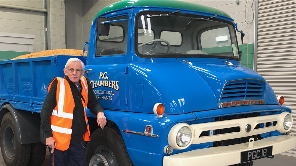 Old fashioned Chambers truck